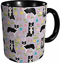 DJNGN Border Collie Spring Fabric Easter Mixed