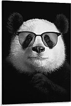 DJNGN Cool Panda Poster Canvas Art Poster and Wall