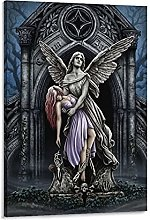 DJNGN Demon Vs Angel Canvas Art Poster and Wall