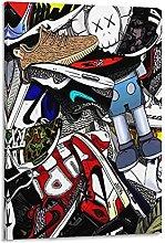 DJNGN Designer Shoes Poster Canvas Art Poster and