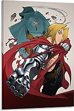 DJNGN Full Metal Alchemist Canvas Art Poster and