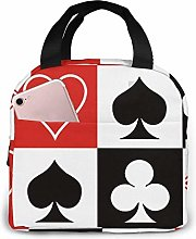 DJNGN Grid Poker Playing Cards Reusable Insulated