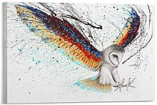 DJNGN Guardian Owl Canvas Art Poster and Wall Art