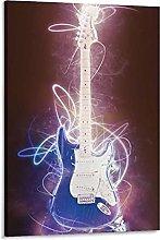 DJNGN Guitar V3 Canvas Art Poster and Wall Art