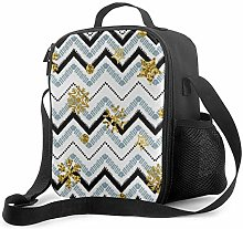 DJNGN Leakproof Lunch Bag Tote Bag,A Gold