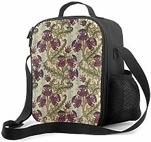 DJNGN Leakproof Lunch Bag Tote Bag,Art Nouveau