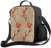 DJNGN Leakproof Lunch Bag Tote Bag,Art Nouveau