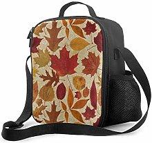 DJNGN Leakproof Lunch Bag Tote Bag,Autumn Leaves
