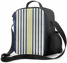 DJNGN Leakproof Lunch Bag Tote Bag,Blue & Yellow
