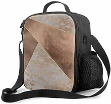 DJNGN Leakproof Lunch Bag Tote Bag,Copper Foil and