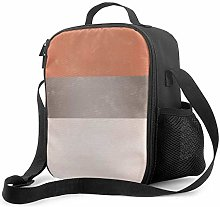 DJNGN Leakproof Lunch Bag Tote Bag,Coral Gray