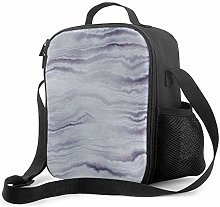 DJNGN Leakproof Lunch Bag Tote Bag,Gray Marble