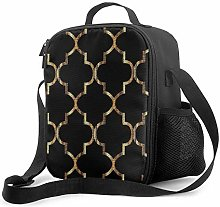 DJNGN Leakproof Lunch Bag Tote Bag,Large Gold
