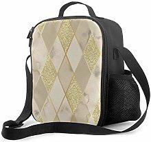 DJNGN Leakproof Lunch Bag Tote Bag,Marble Luxury