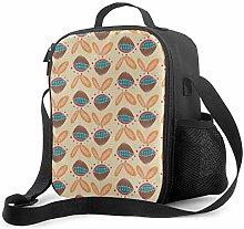 DJNGN Leakproof Lunch Bag Tote Bag,Mid Century