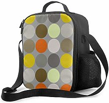 DJNGN Leakproof Lunch Bag Tote Bag,Mid Century
