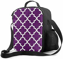DJNGN Leakproof Lunch Bag Tote Bag,Moroccan