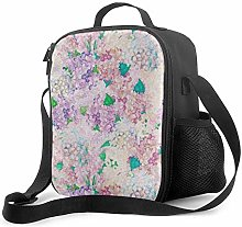 DJNGN Leakproof Lunch Bag Tote Bag,Pastel Purple