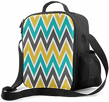 DJNGN Leakproof Lunch Bag Tote Bag,Turquoise Gray