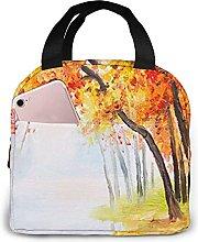 DJNGN Lunch Bag Autumn Forest Orange Leaves Tote