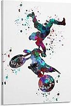 DJNGN Motocross Dirt Bike Canvas Art Poster and