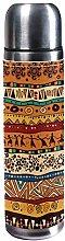 DJNGN Orange African Pattern 500ml Travel Mug