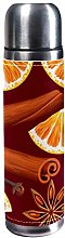 DJNGN Orange and Spices Fruit Pattern 500ml Travel