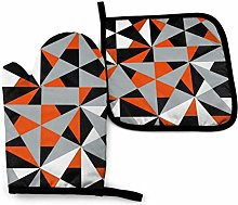 DJNGN Oven Mitts and Pot Holders Sets Geometric