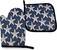 DJNGN Oven Mitts and Pot Holders Sets Nautical