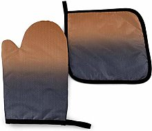 DJNGN Oven Mitts and Pot Holders Sets Navy Blue