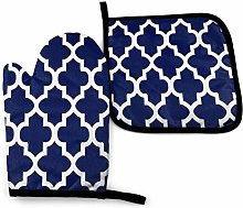 DJNGN Oven Mitts and Pot Holders Sets Rich Navy