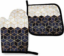 DJNGN Oven Mitts and Pot Holders Sets White and