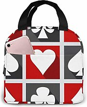 DJNGN Playing Card Lunch Bags Double Layer,3D