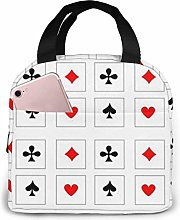 DJNGN Playing Cards Reusable Insulated Lunch Bag