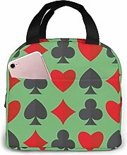 DJNGN Playing Cards Suits Reusable Insulated Lunch