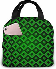 DJNGN Playing Cards Symbols Green and Black Casino