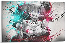 DJNGN Re Zero Z Canvas Art Poster and Wall Art
