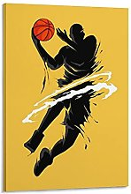 DJNGN Silhouette Canvas Art Poster and Wall Art