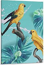DJNGN Tropical Birds 01 Canvas Art Poster and Wall