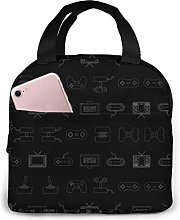 DJNGN Video Games Reusable Insulated Lunch Bag