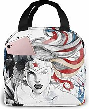 DJNGN Wonder Woman Portable Insulated Lunch Bag
