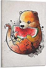DJNGN Wottermelon Canvas Art Poster and Wall Art