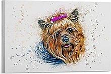 DJNGN Yorkshire Terrier Art Canvas Art Poster and