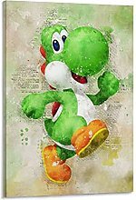 DJNGN Yoshi Canvas Art Poster and Wall Art Picture