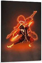 DJNGN Zuko Spirit Poster Canvas Art Poster and