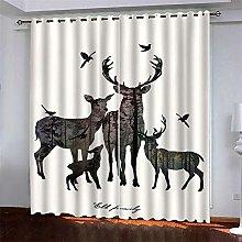 DJOIEPO Animal Blackout Curtain, Abstract Deer