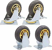 DJPP Casters,Heavy Rubber Wheels × 4, Household