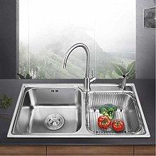 DJPP Kitchen Sink 304 Stainless Steel Double