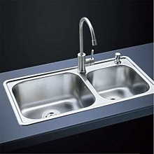 DJPP Kitchen Sink Double Slot 304 Stainless Steel