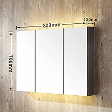 DJPP Mirror Led Cabinet Box Wall Mounted Stainless